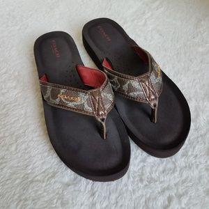 Coach Judy Flip  Flops Sandals